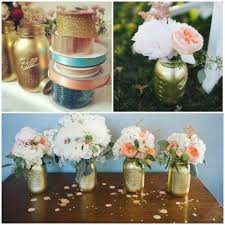 Decorating Mason Jars Diy Gold Mason Jars Glitter Incglitter Inc