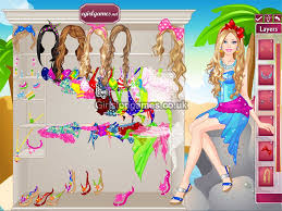 you can play barbie dress up colorful swimsuits game free