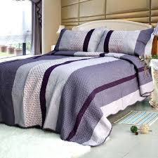 full size of purple charm cotton 3pc striped vermicelli quilted printed quilt set full queen size