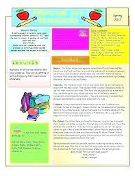 Education Newsletter Templates April Newsletter Template