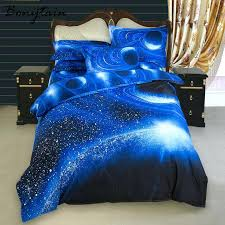twin satin sheets twin queen size universe galaxy bedding set space printed bedspread