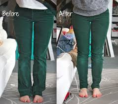 turn flared pants into skinny leg