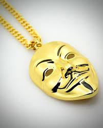golden vendetta mask necklace for men pendant chain fancy