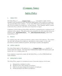 Training Templates For Word Company Training Policy Template Company Policy Template
