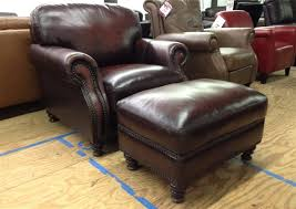 adorable leather chair with ottoman metropolitan faux brown regarding leather chairs with ottoman regarding motivate
