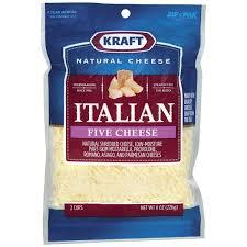 kraft shredded cheese ingredients. Simple Cheese Kraft Italian Five Cheese Shredded And Ingredients