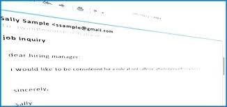 Sending Resume Email Samples Should I Send A Cover Letter With Resume