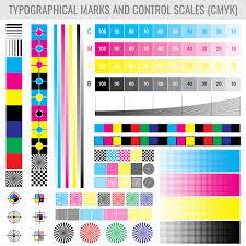 Colourtone Colour Chart Cmyk Press Print Marks And Colour Tone Gradient Bars For