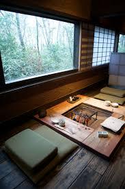 Japanese Style Table Setting Fireplace Zenzo Ryokan Japan Interior Pinterest Fireplaces