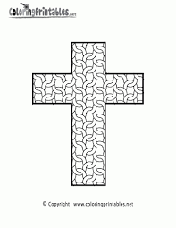 Stained Glass Cross Printable Coloring Sheet Sunday School Awesome