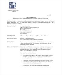 commercial real estate sales agent job description real estate property manager job description