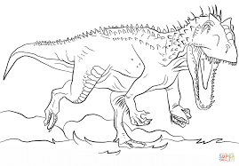 Small Picture Jurassic Park Indominus Rex Coloring Page Free Printable