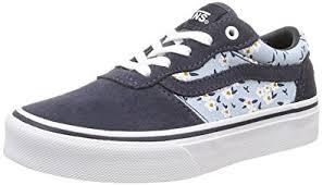 vans shoes 2016 for girls. vans milton, girls\u0027 low-top sneakers, blue (flower/blue) shoes 2016 for girls