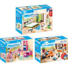 Playmobil City Life 3er Set 9267 9270 9271 Wohnzimmer Fröhliches