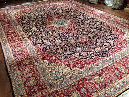 vintage kashan carpet 9510