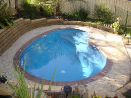 Stunning Small Backyard Swimming Pool with mini Pools and Gardens : Elegant  Small Backyard Swimming Pool Green Lawn Natural Shades | home decor |  Pinterest ...