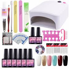 gel nail polish kit manicure set 8ml uv gel nail set 36w uv lamp for art dryer machine manicure tools diy design nail art design nail art designs from
