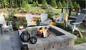 backyard getaway with stone fire pit