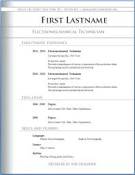 Resume Template Sample Resume Word Document Free Download Free