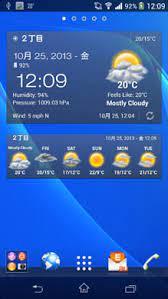 Android Weather & Clock Widget』~カスタマイズ可能な高機能天気ウィジェット。詳しい情報を知りたい人におすすめ~