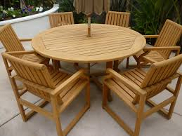 solid teak outdoor dining table