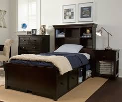 Bookcase Bedroom Furniture Craft Furniture Boston Twin Size Bookcase Bed With Drawer And