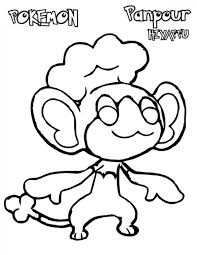 Small Picture Pokemon Panpour Coloring Pages Pokemon Coloring Pages