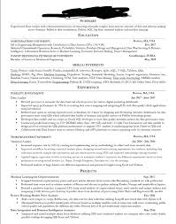 Professional Resume Critique Resume Resume For Data Analyst