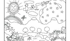Creation Coloring Pages Days Of Sheets Free As Also Page 7 Drawing