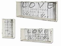 Haku 3er Set Wandregal Weiß Gewischt Vintage Maße 765020 Cm X 302533 Cm 27999