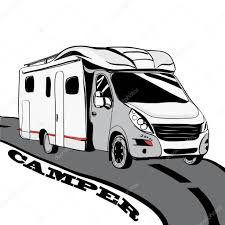 Camper Cars Hand Drawn Doodle Cars Recreational Vehicles Camper Vans Caravan