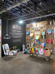 Trade Show Booth Design Ideas like the idea of a large wall with our mission statement written out big like this trade show booth designtrade