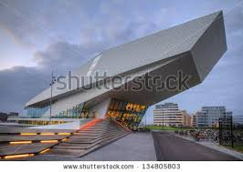 famous modern architecture. AMSTERDAM - DECEMBER 10: The Eye Film Institute Netherlands In Afternoon Dec. Famous Modern Architecture