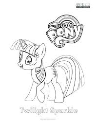 My Little Pony Coloring Pages Mane 6 Coloring Page Twilight Sparkle