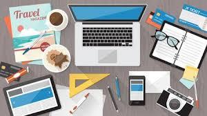 messy desk clipart. Exellent Desk Messy Cluttered Office Desk Workspace Organization And Order Concept  Illustration To Desk Clipart T