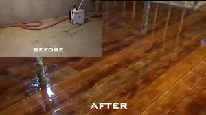 Concrete Wood Floor Wood Concrete How To Make Concrete Look Like Wood Flooring Youtube