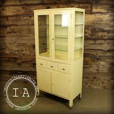 vtg 1940 50s simmons furniture metal medical. Vintage Industrial Antique Medical Apothecary Glass Steel Cabinet Dental Display Vtg 1940 50s Simmons Furniture Metal