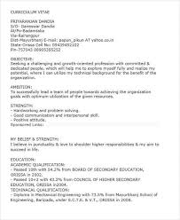 40 Fresher Resume Examples