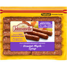 johnsonville vermont maple syrup breakfast sausage links 9 6 oz 12 ct