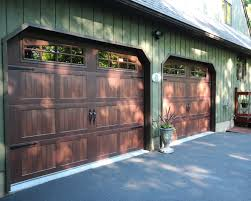 9x7 carriage house gany garage door w 2pc arched stockton inserts