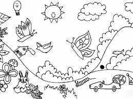 Kinderboekenfestival Suriname Kleurplaat Landschap