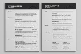 two pages classic resume cv template on behance two pages classic resume cv template