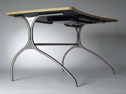 steel office desks. wood desk with curved stainless steel legs office desks e