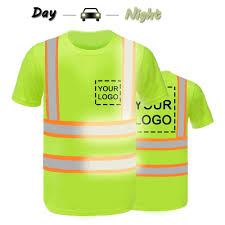 Hi Vis T Shirt Design High Visibility Reflective Safety Shirts Custom Your Logo Hi Vis T Shirts Neon Quick Dry Outdoor Work Shirts L Neon Green Style 4