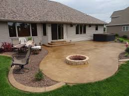 concrete patio with fire pit. Interesting Pit Concrete Patio With Fire Pit T Brint Co Intended For Patios Pits Remodel 2 Throughout A