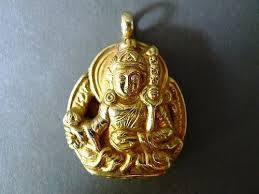 tibetian pendant of yama irma the tibetian of the underworld
