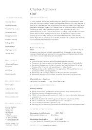 Chief Cook Resume Sample Chef Resume Sample Chef Resumes Cook Resume