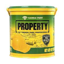 jual kansai paint 581 075 property cat tembok interior white ballroom 2 5 kg harga