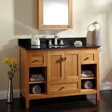 Open Shelf Vanity Bathroom 48 Alcott Bamboo Vanity For Undermount Sink Bathroom
