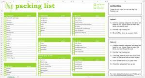Packing List For Vacation Template Trip Packing List Excel Template Savvy Spreadsheets